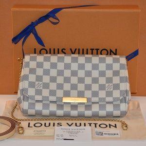 Authentic Louis Vuitton Favorite MM Damiere Azur